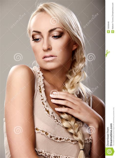 lady of braids lady with braid royalty free stock photos image 15839948