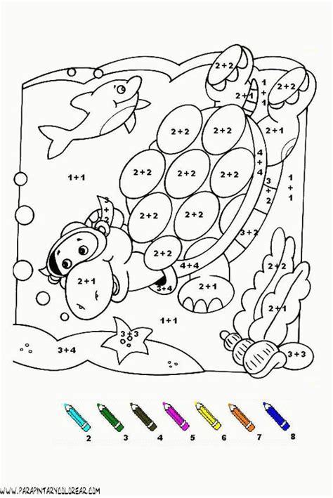 imagenes con operaciones matematicas para colorear fichas para colorear con sumas y restas de personajes