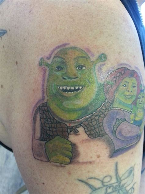 shrek tattoo no one should consider a shrek badtattoos