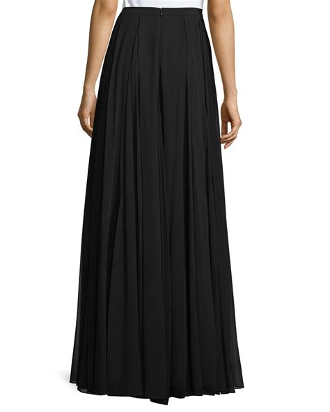 Maxi Black A lyst pleated a line maxi skirt in black