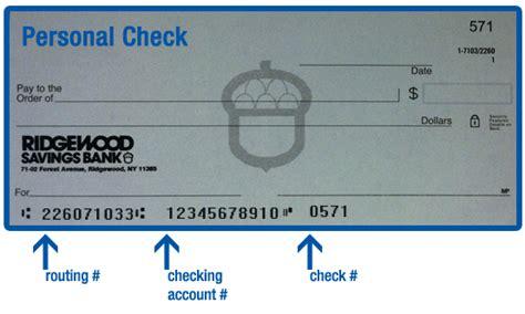 ridgewood savings bank routing information