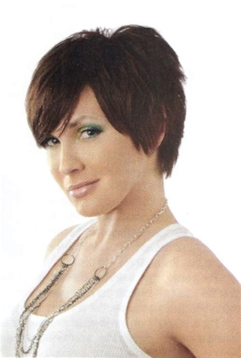 pinning back a pixie short shaggy layered pixie haircut pictures front side and