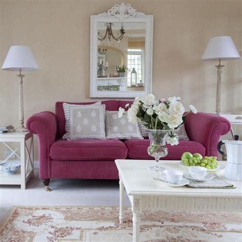 Detached House In Surrey Inspiring Interiors Pink Sofa Living Room
