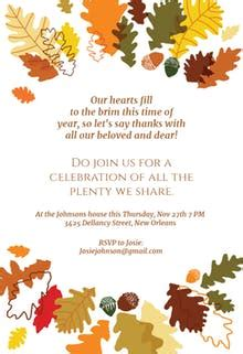 Thanksgiving Invitation Templates Free Greetings Island Thanksgiving Prayer Template