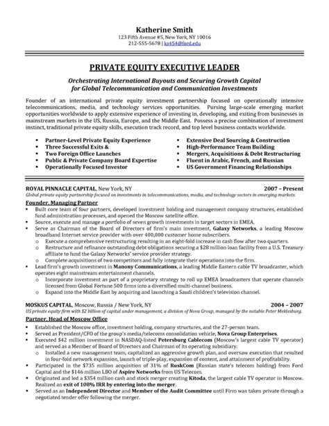 Executive Resume Exles by Executive Resume Sles
