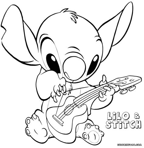 stitch coloring pages baby stitch pages coloring pages