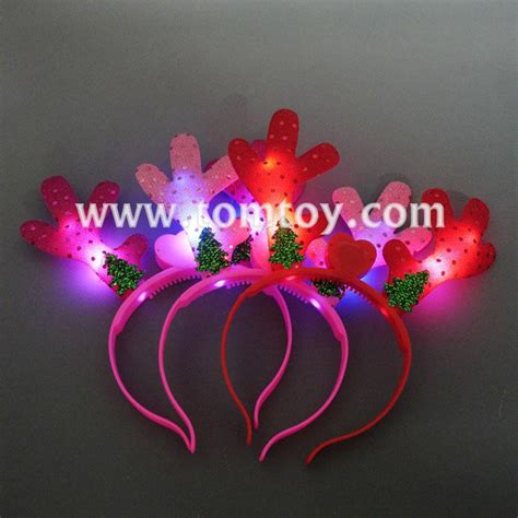 liteup xmas trees and reindeer light up tree reindeer antlers headband tomtoy