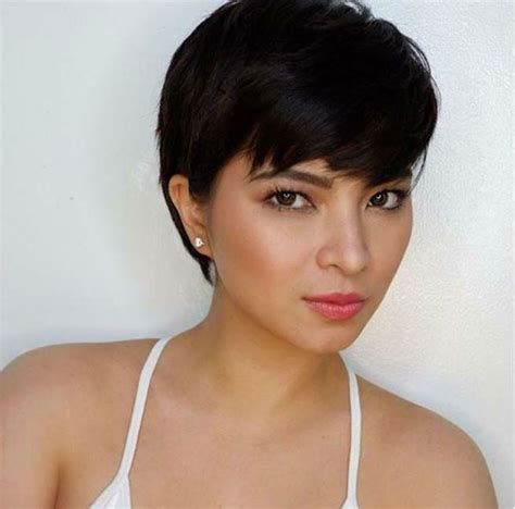pfilipina actress with short hair angel locsin responds to netizen who thinks her short hair