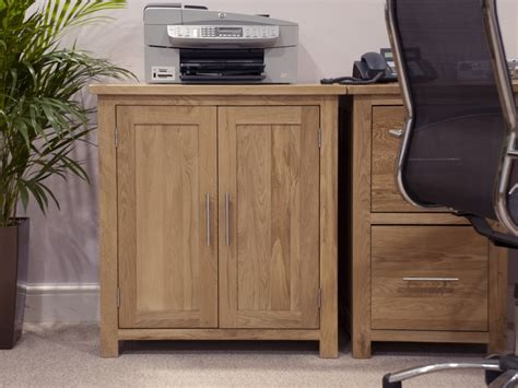 Solid Oak Home Office Furniture Eton Solid Oak Modern Furniture Home Office Printer Storage Cupboard Ebay