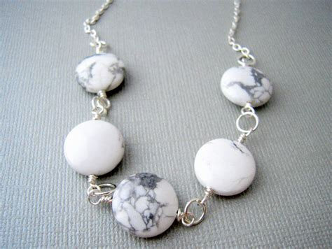 stones and for jewelry white howlite necklace howlite necklace by urbandwellers