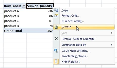 Refresh A Pivot Table by Automatic Change Of Data Source In A Pivot Table Excel