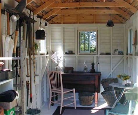 garden shed interior     landscape