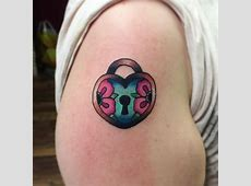 25+ Heart Locket Tattoo Designs , Ideas   Design Trends Lock And Key Parts