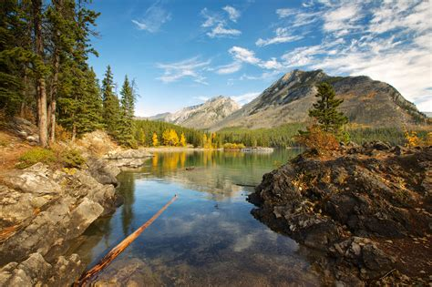 photo canada alberta nature mountains lake scenery