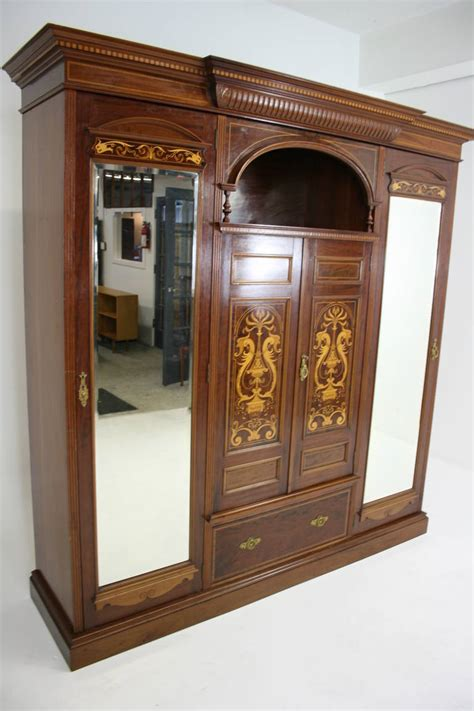 mahogany armoires wardrobes antique english neoclassical inlaid mahogany armoire or