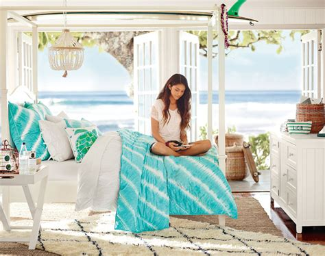 ocean themed girls bedroom teenage girl bedroom ideas ocean pbteen