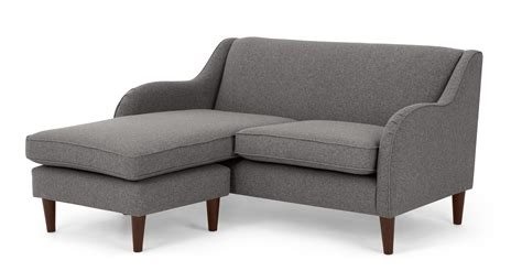 textured couch helena corner sofa textured weave smoke grey made com