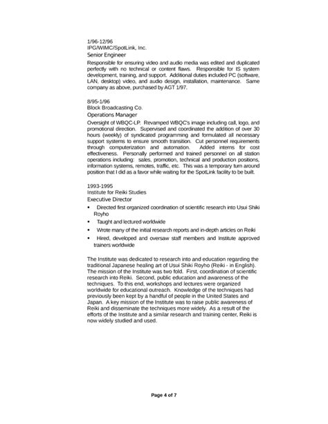 resume format for technical trainers executive technical trainer resume template page 4