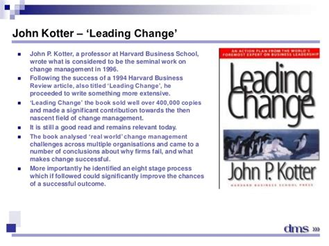 kotter j leading change extracts module 1 section 2 kotter s 8 steps