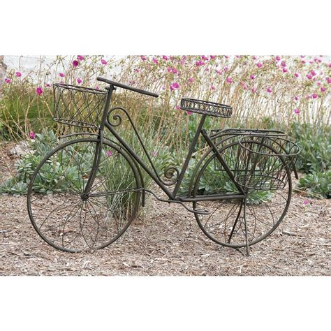 Iron Bicycle Planter by 31 In X 56 In Rustic Iron Vintage Bicycle Frame Planter
