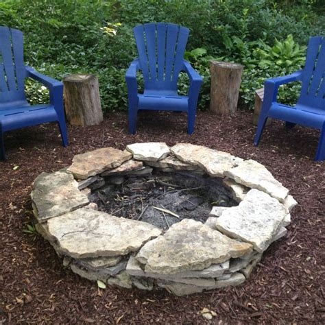 firepit rocks stacked pit easy to diy for my home