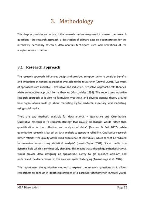 secondary research methodology dissertation dissertation methodology