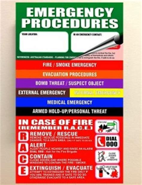 emergency procedures in the workplace template cus safety and emergency response pa times