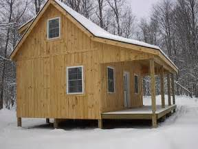 Cabin Home Plans With Loft Adirondack Cabin Plans 16 X24 With Cozy Loft And Front Porch 1 5 Bath