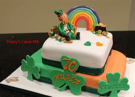 irish cake an irish themed birthday cake baking pinterest