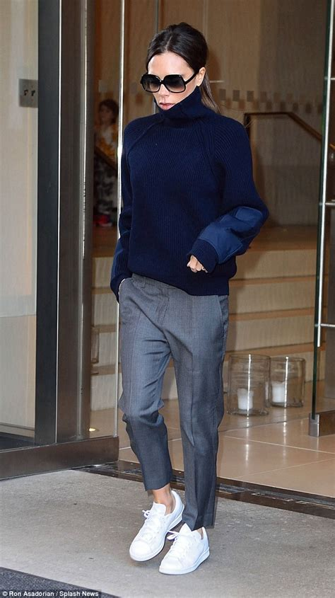 Vic Set 2in1 Jumper Sporty beckham arrives in nyc with david to support at fashion week daily mail