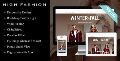 20 Responsive Html Templates For Fashion Store Designssave Com High Fashion Website Templates