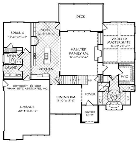 Frank Betz Floor Plans mackinaw b house floor plan frank betz associates