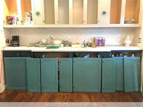teal kitchen cabinet sneak peek plus a few cabinet