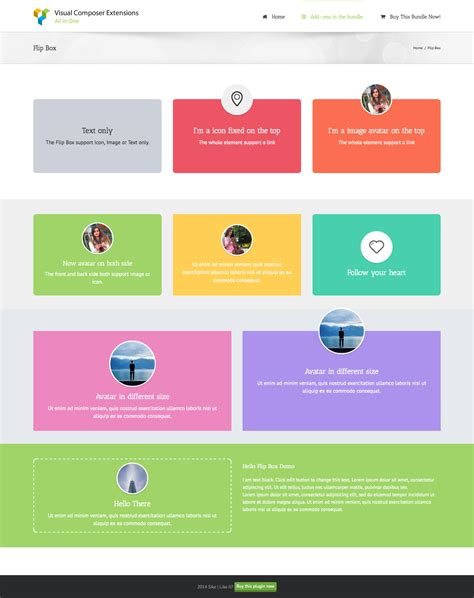 boxed layout css wordpress wpbakery page builder add on image overlay flip box by