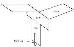 Paper Helicopter Template by Spinning Paper Helicopter Free Paper Toys And Models At