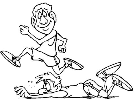 track and field printable coloring pages