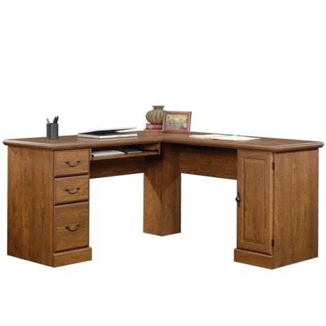 L Shaped Computer Desk in Milled Cherry   418648