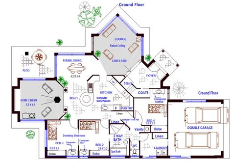 4 Bedroom 2 Storey House Plan Australian House Floor Australian Country House Plans Free