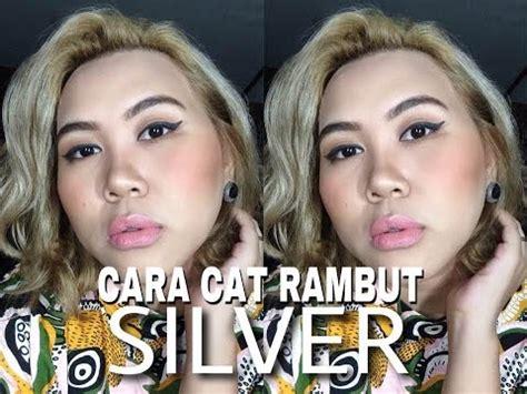 Jual Rambut Palsu Warna Putih cara cat rambut warna silver di rumah elva saragih
