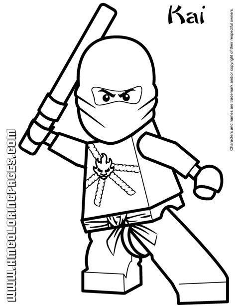 cartoon network ninjago kai coloring page h m coloring