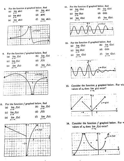 one sided limits worksheet limits mrs hawkins math classes
