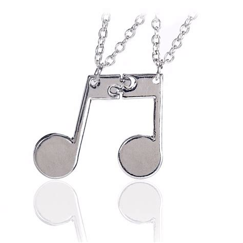 i like how they paired the pendants with a different but new 1 pair bff best friends music notes pendant necklace