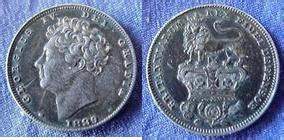 george iv silver coins of england/great britain