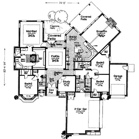 European Style Floor Plans by European Style House Plan 4 Beds 3 Baths 2713 Sq Ft Plan