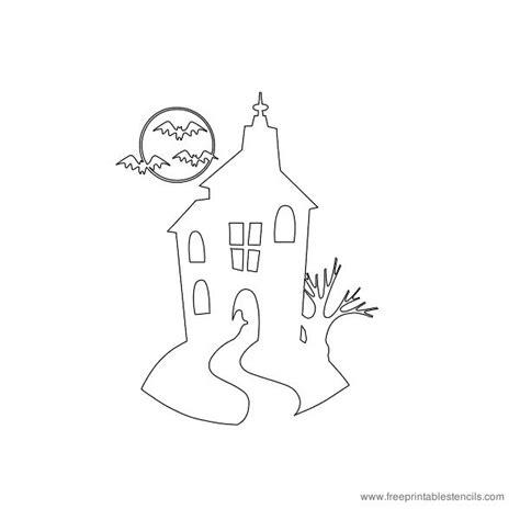 printable haunted house pumpkin stencils free halloween themed printable stencils free printable