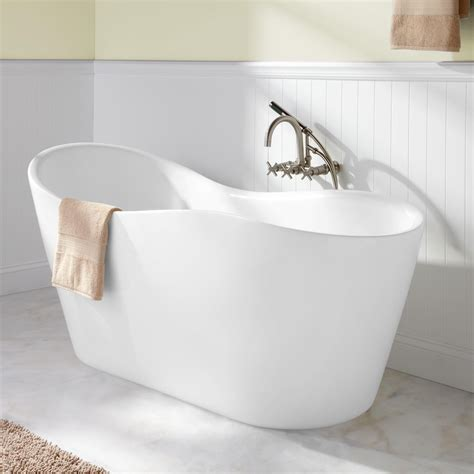 Freestanding Tub With 65 Quot Iredell Acrylic Freestanding Tub Bathroom