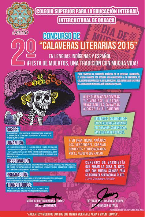 imagenes de calaveras literarias para niños invita cseiio a concurso de calaveras ciudadania express