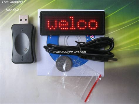 Usb Scrolling Led Name Badge by Scrolling Message Led Name Badge With Usb Cable
