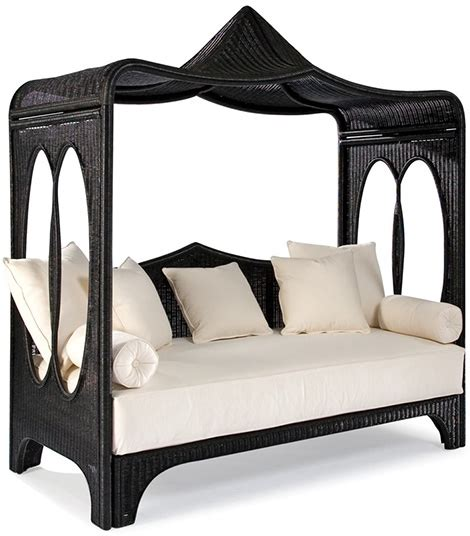 Celerie Kemble wicker daybed by laneventure canopied zinnia from