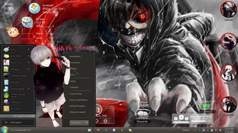 themes for windows 7 tokyo ghoul tokyo ghoul kaneki ken v2 windows 7 theme by